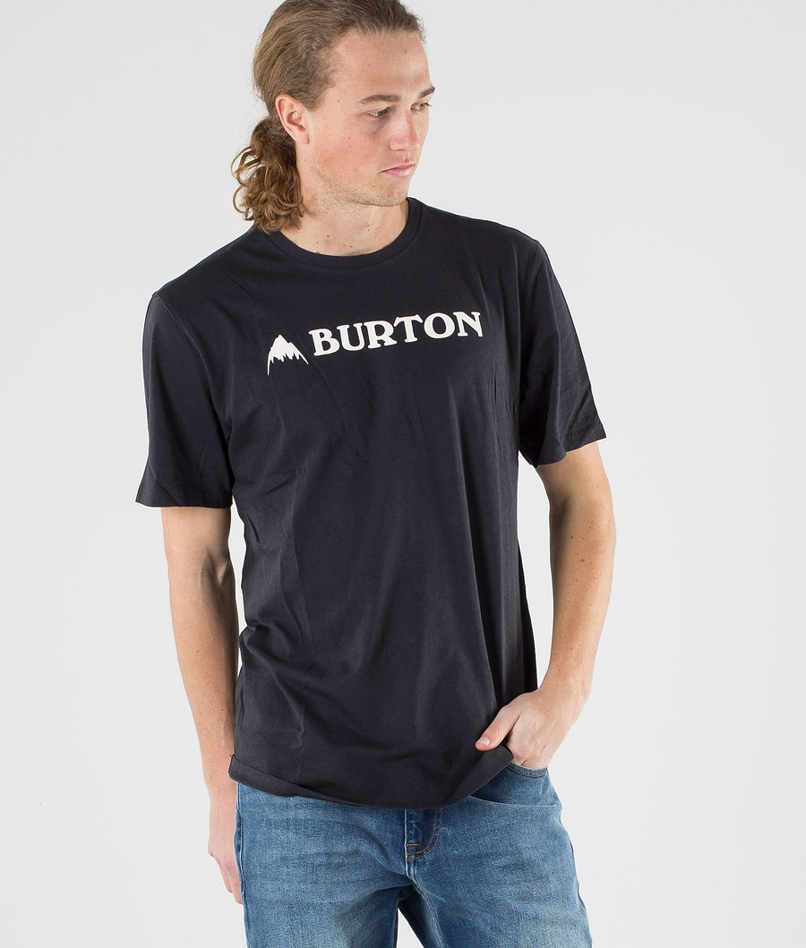 Burton Horizontal Mountain T-Shirt True Black