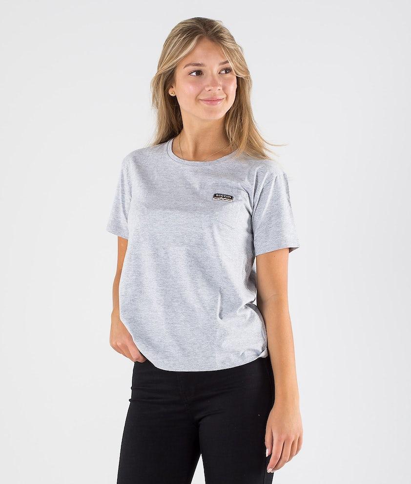 Burton Classic Pocket T-shirt Gray Heather