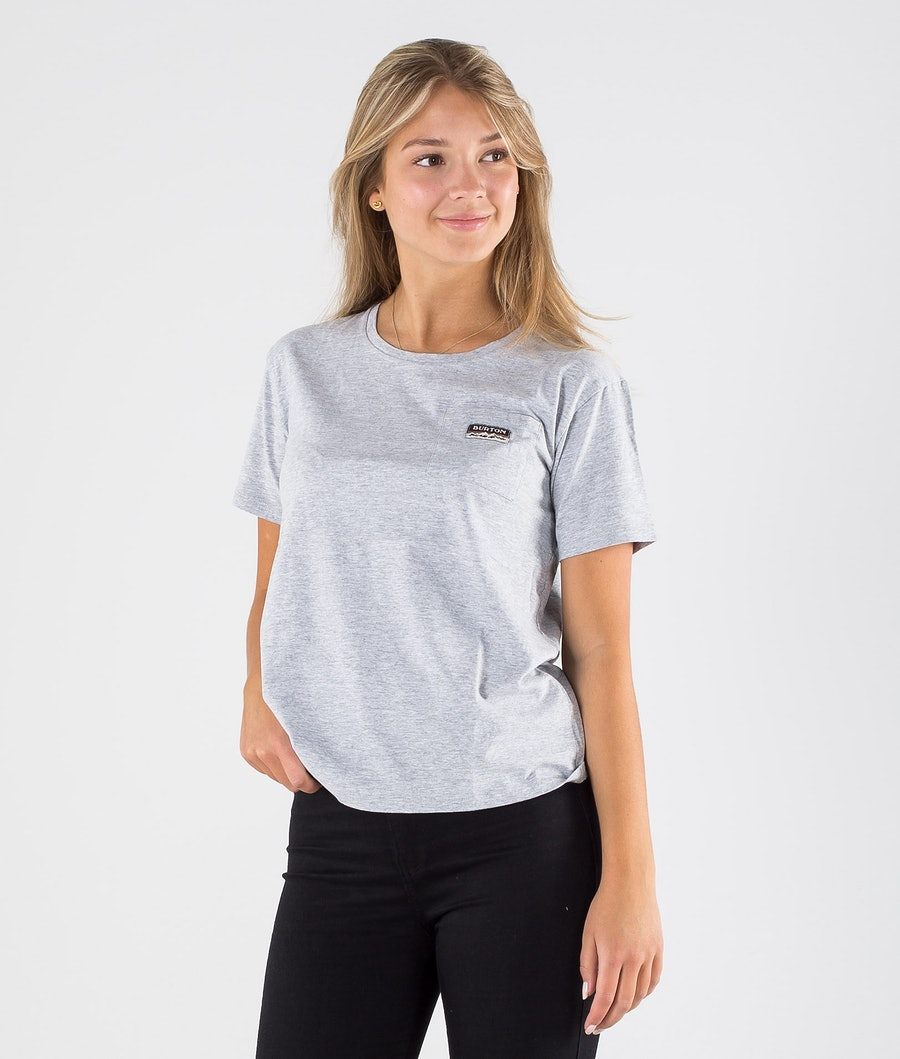 Burton Classic Pocket T-shirt Gray Heather