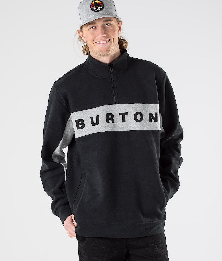 Burton Lowball 1/4 Zip Pitkähihainen True Black
