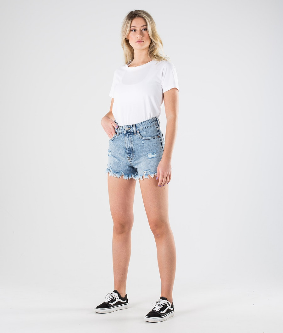 Dr Denim Skye Shorts Shorts Dam Destiny Light Blue Ripped