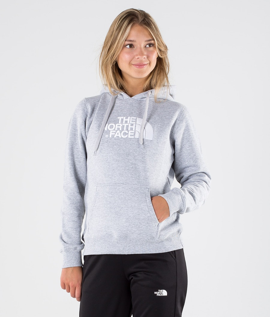 The North Face Drew Peak Pullover Felpa con cappuccio Tnf Light Grey Heather/Tnf White