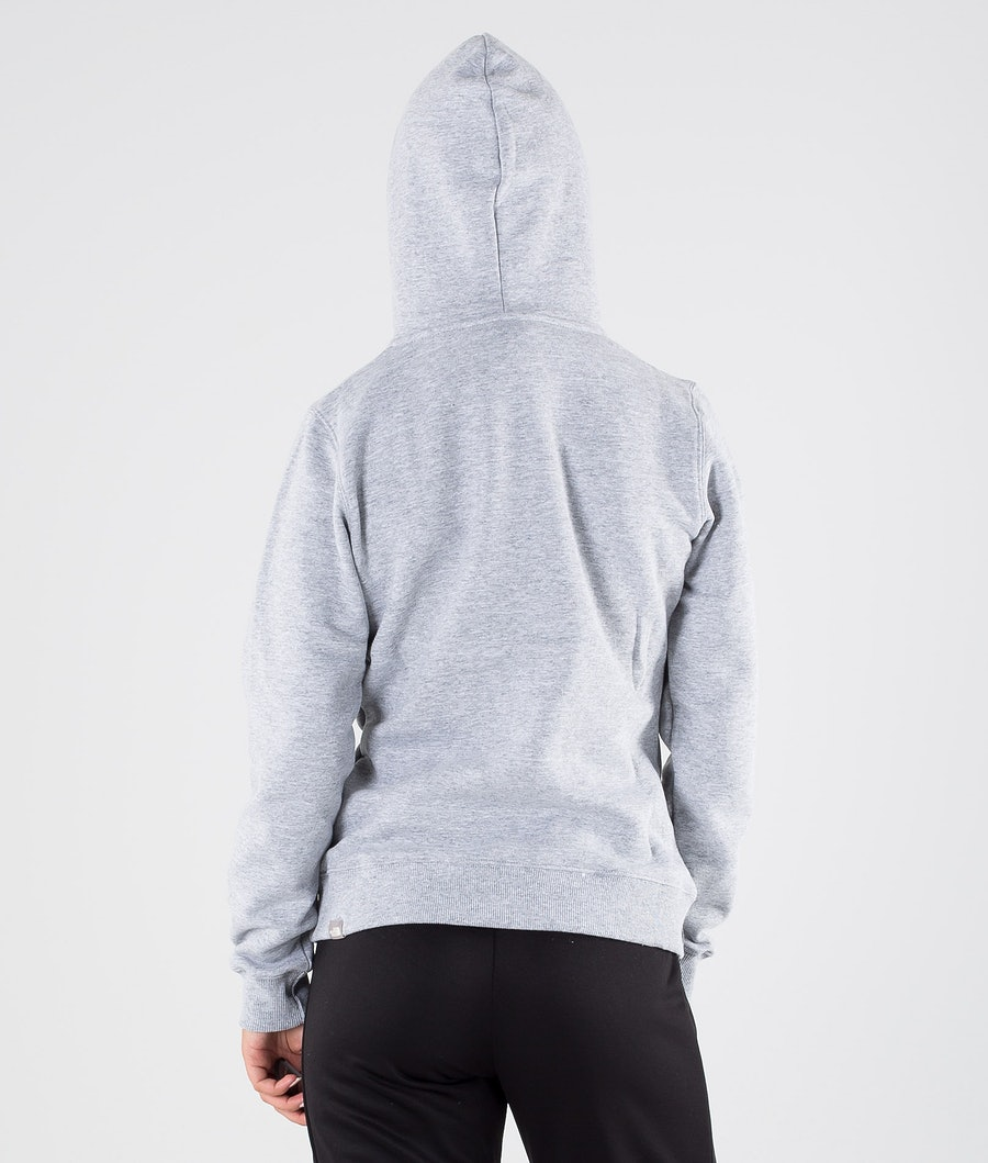 The North Face Drew Peak Pullover Hood Dame Tnf Light Grey Heather/Tnf White
