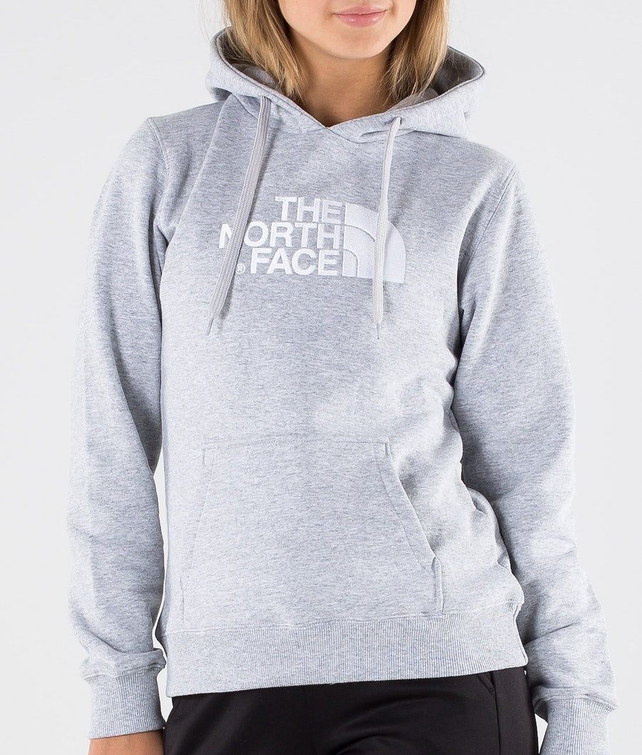 The North Face Drew Peak Pullover Hood Dam Tnf Light Grey Heather/Tnf White