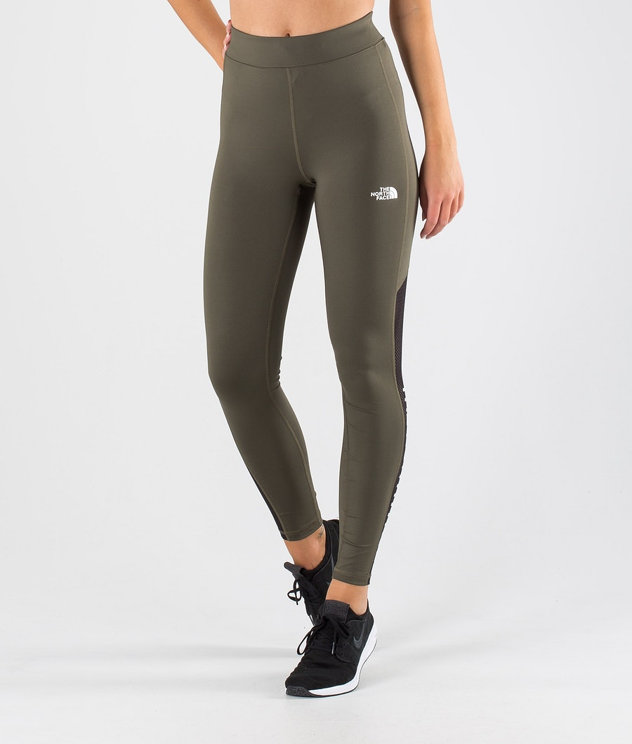 The North Face Train N Logo High Rise Leggings New Taupe Green/Tnf Black