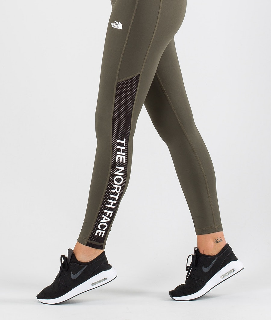 The North Face Train N Logo High Rise Leggings Donna New Taupe Green/Tnf Black