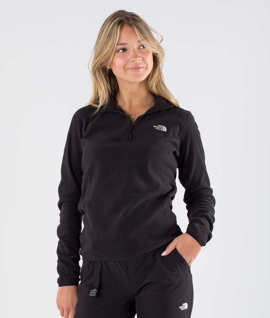 The North Face 100 Glacier 1/4 Zip Pitkähihainen Tnf Black