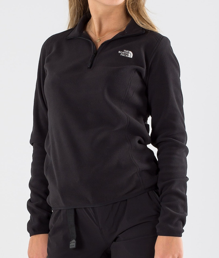 The North Face 100 Glacier 1/4 Zip Tröja Dam Tnf Black