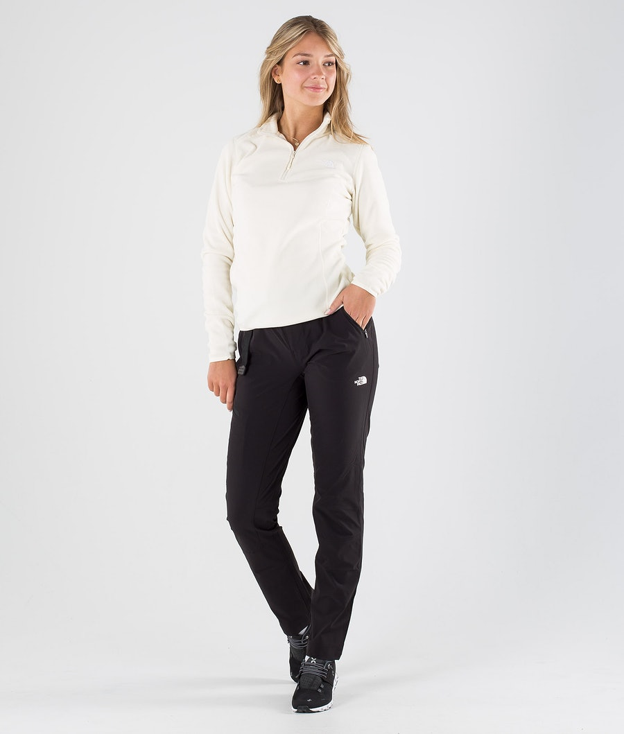 The North Face 100 Glacier 1/4 Zip Felpa Donna Vintage White/Tnf White