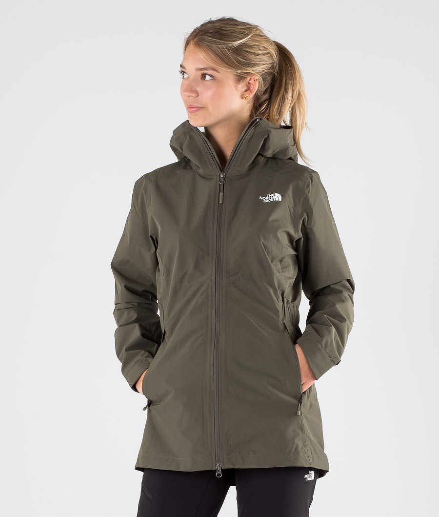 The North Face Hikesteller Parka Shell Jacket New Taupe Green