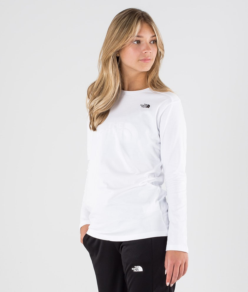 The North Face Simple Dome Longsleeve Tnf White