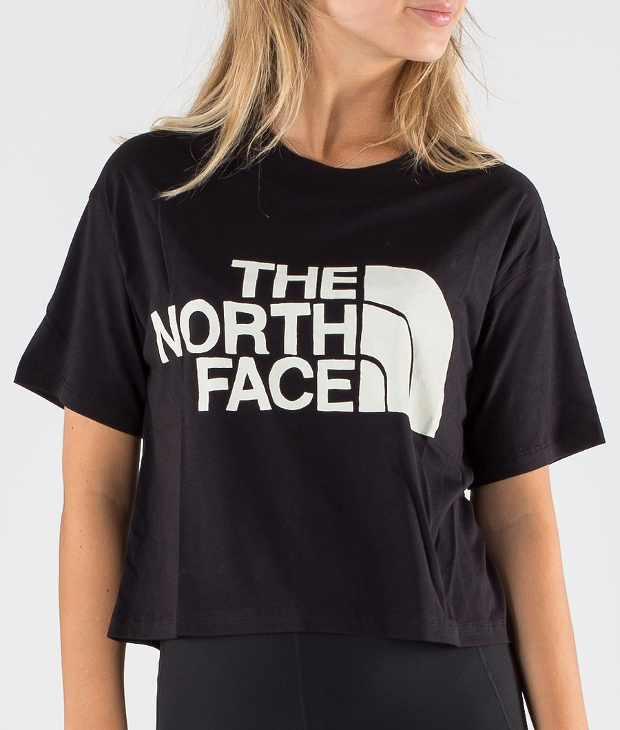 The North Face Half Dome Cropped T-shirt Dam Tnf Black