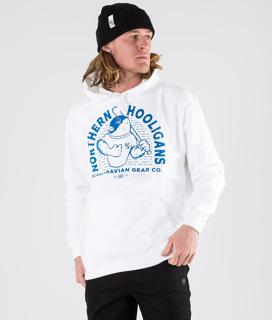 Northern Hooligans Bullfinch Hoodie White