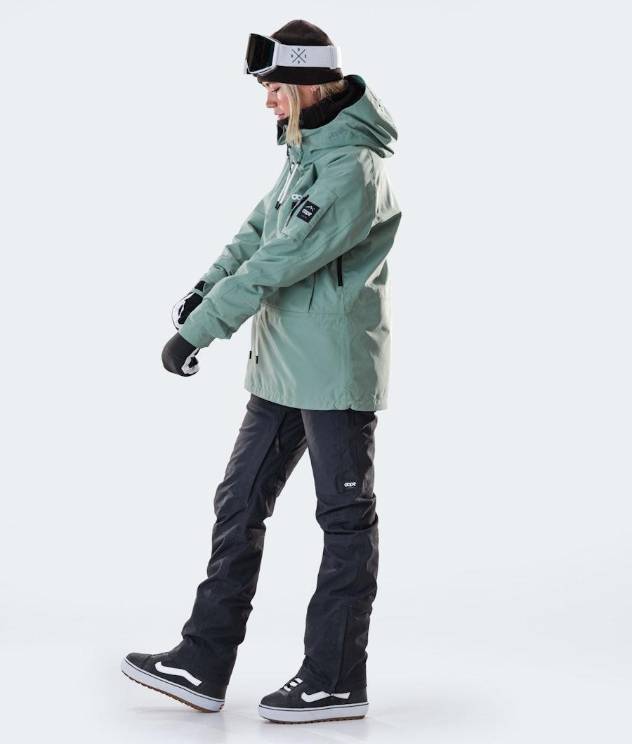 Dope Annok W Snowboardjakke Dame Faded Green