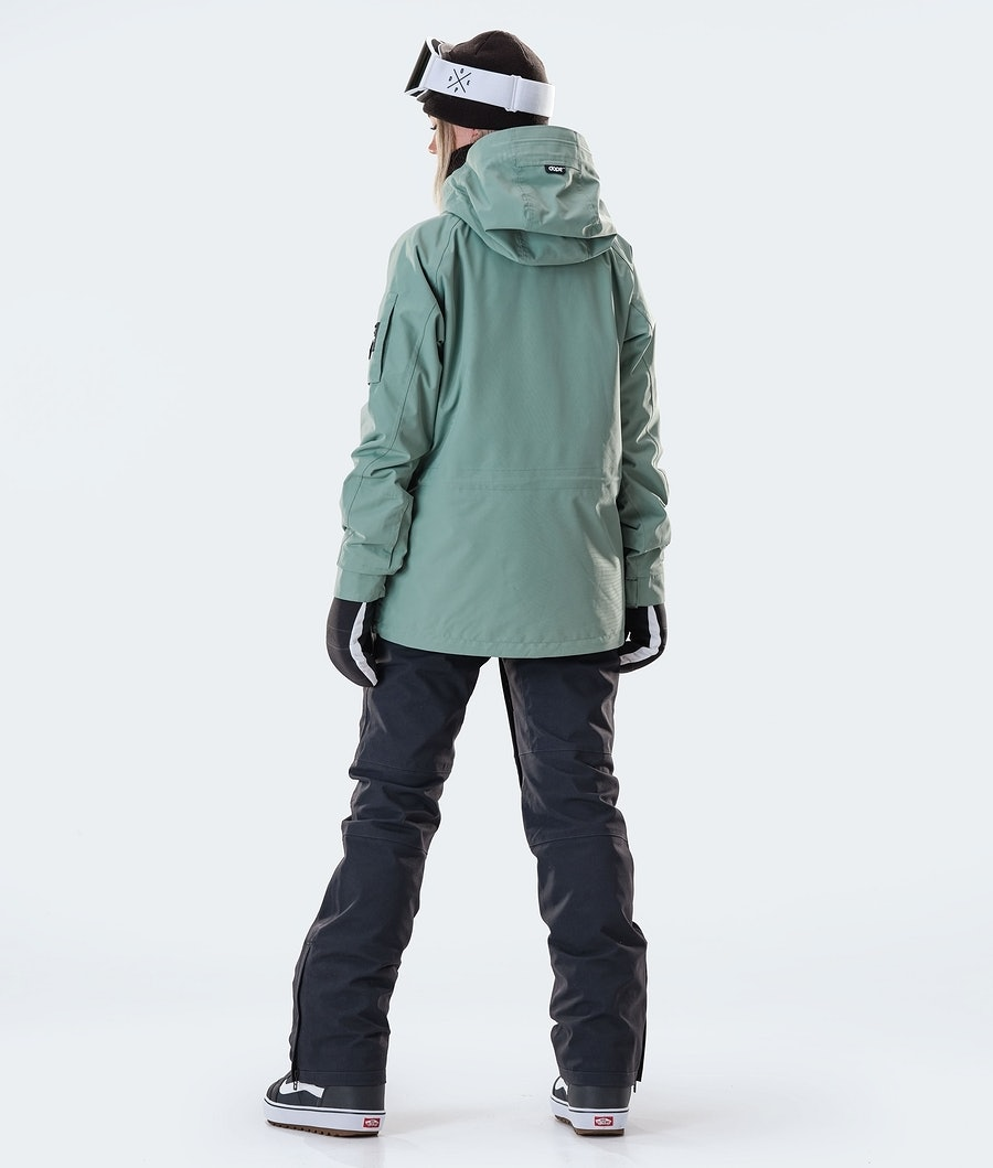 Dope Annok W Women's Snowboard Jacket Faded Green