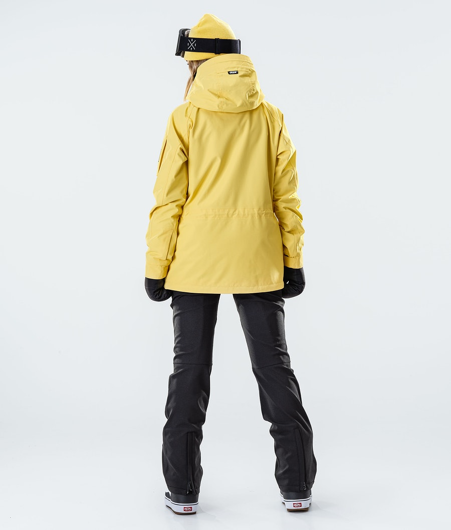 Dope Annok W Women's Snowboard Jacket Faded Yellow