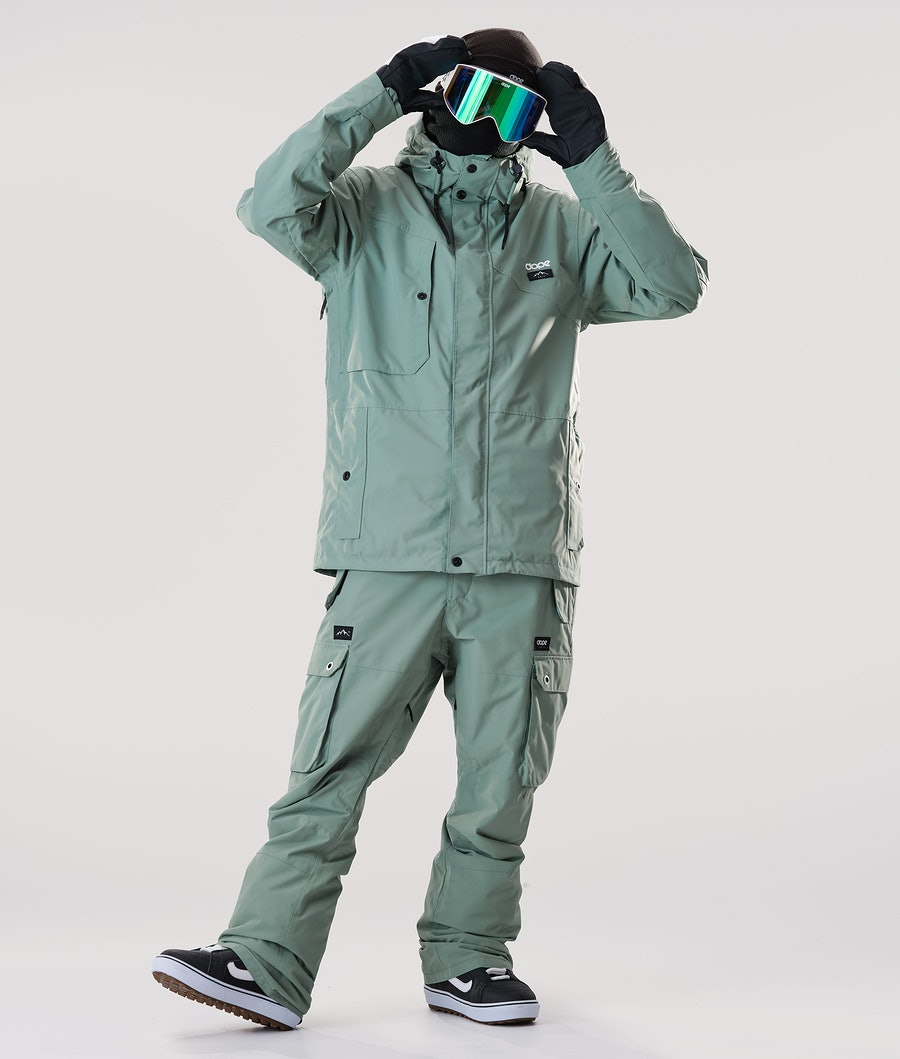 Dope Adept Snowboardjacka Faded Green