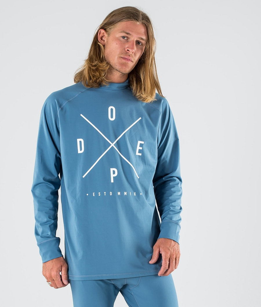 Dope Snuggle 2X-UP Basislaag Top Blue Steel