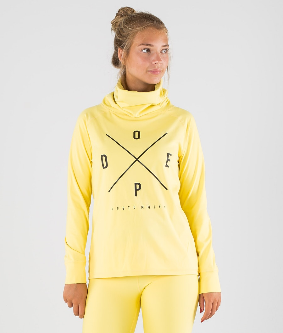 Dope Snuggle 2X-UP W Funktionsshirt Damen Faded Yellow
