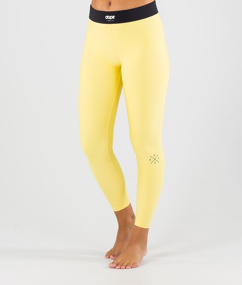 Dope Snuggle 2X-UP W Base Layer Pant Faded Yellow