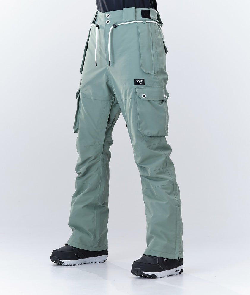 Dope Iconic W Snowboard Pants Faded Green