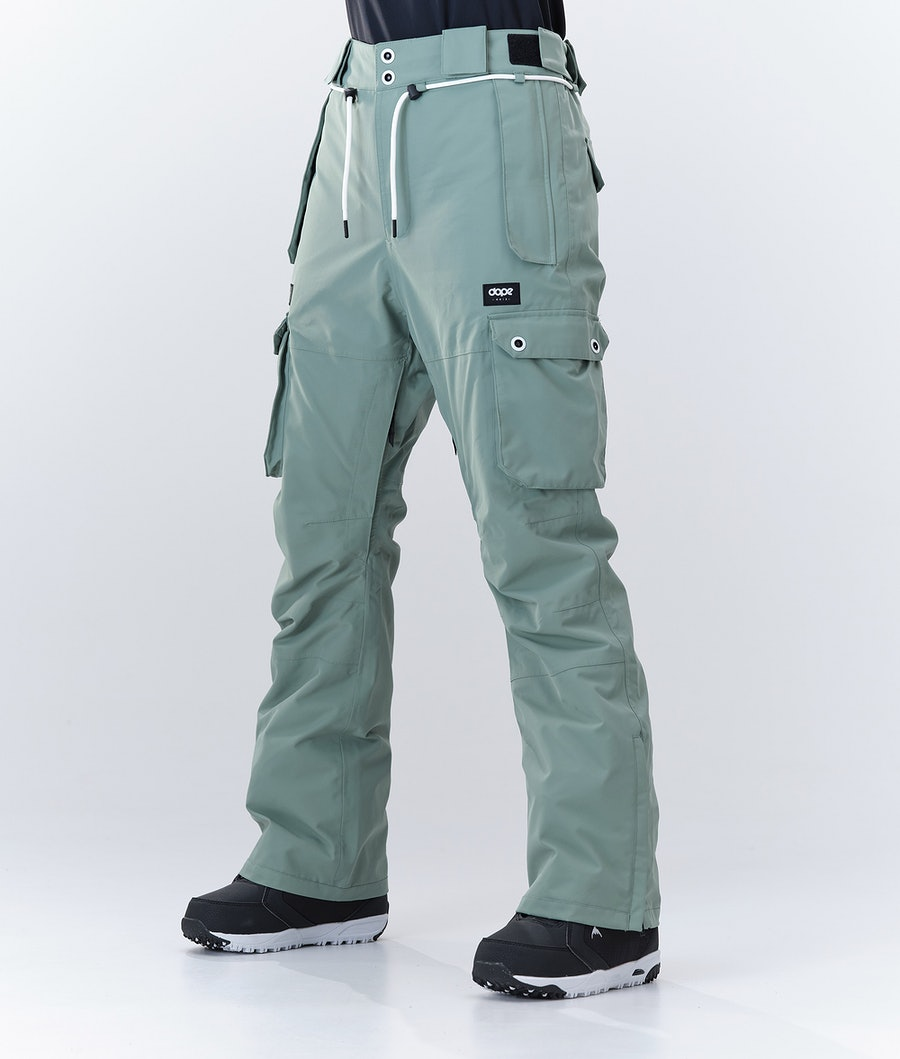 Dope Iconic W Pantaloni da Snowboard Faded Green