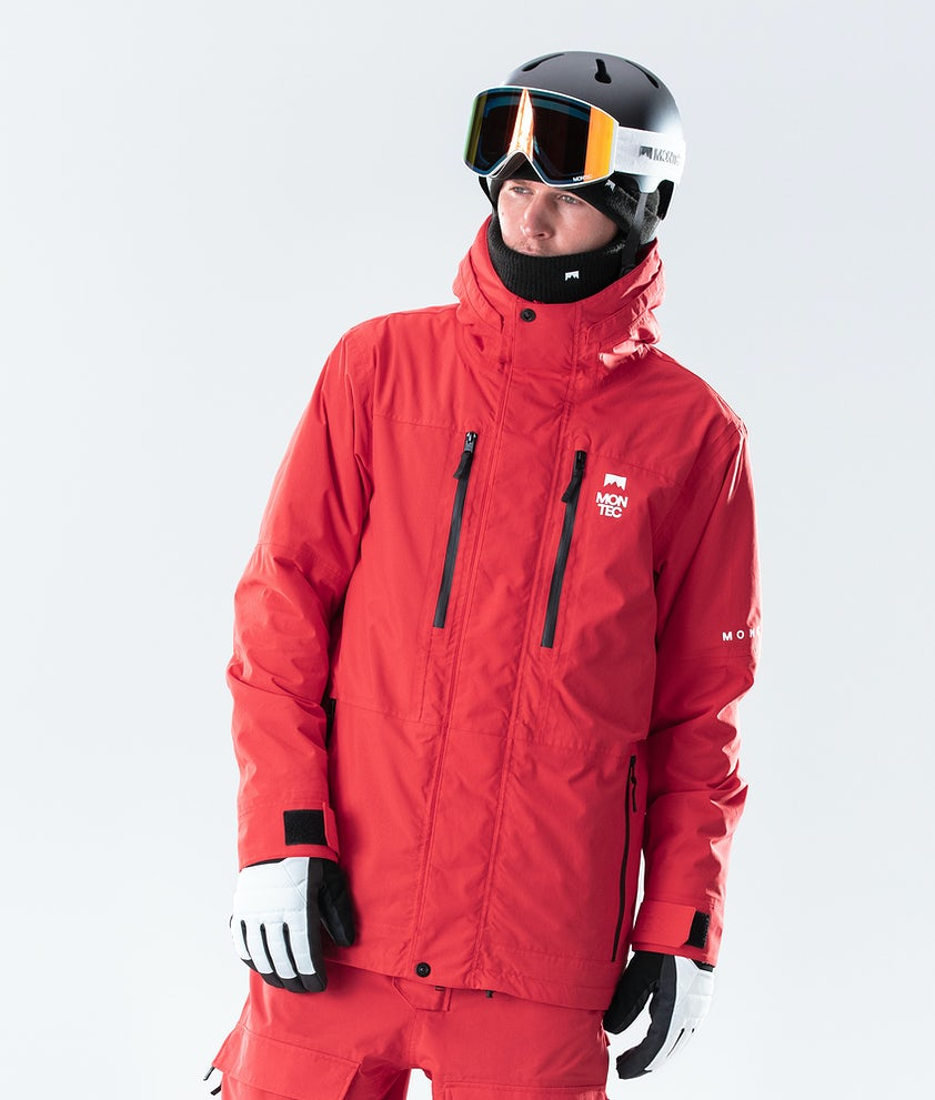 Montec Fawk Giacca da Snowboard Red