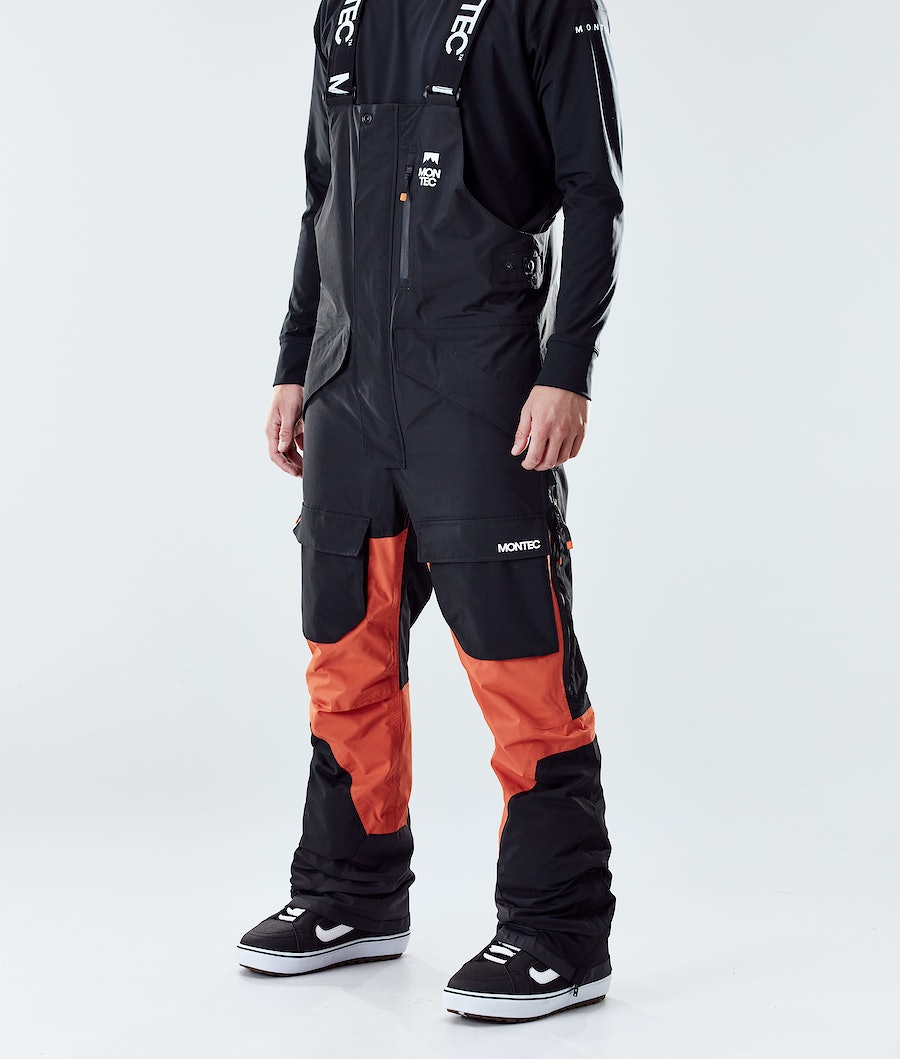 Montec Fawk Snowboard Pants Black/Orange