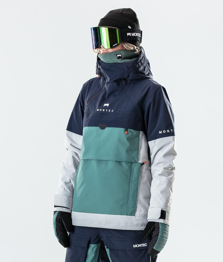 Montec Dune W Snowboardjakke Marine/Atlantic/Light Grey