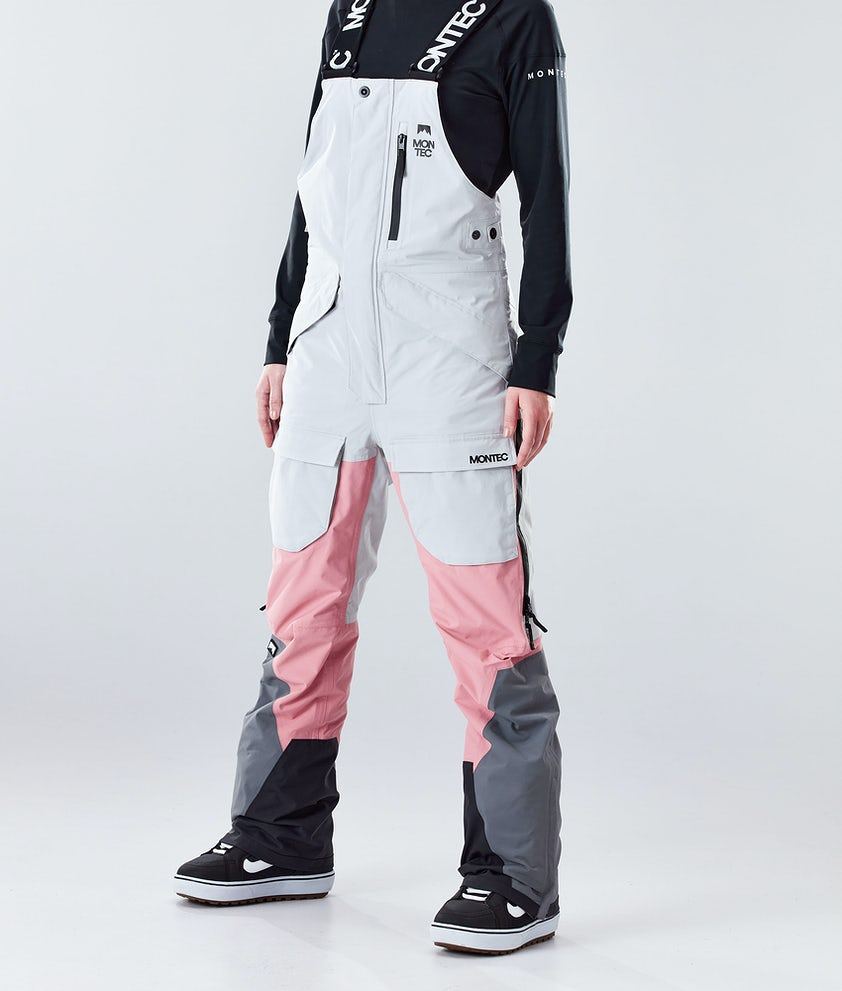Montec Fawk W Snowboard Pants Light Grey/Pink/Light Pearl