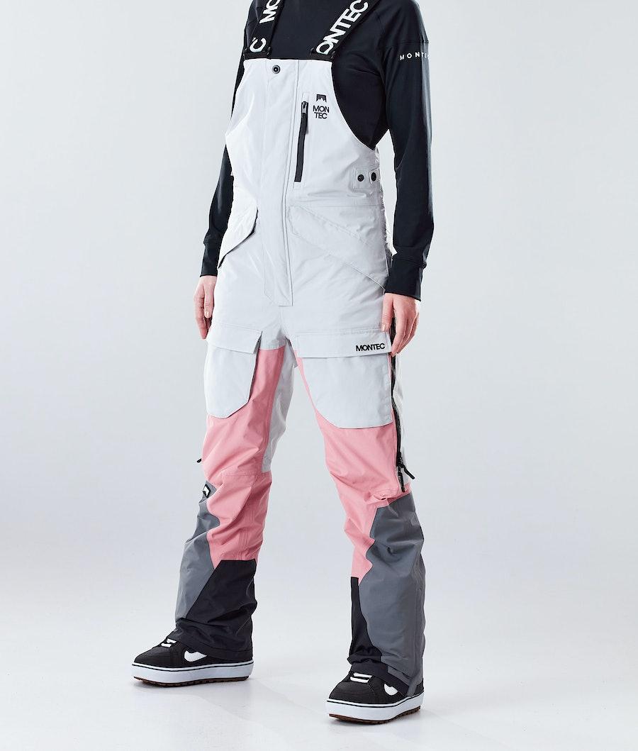 Montec Fawk W Snowboard Broek Light Grey/Pink/Light Pearl