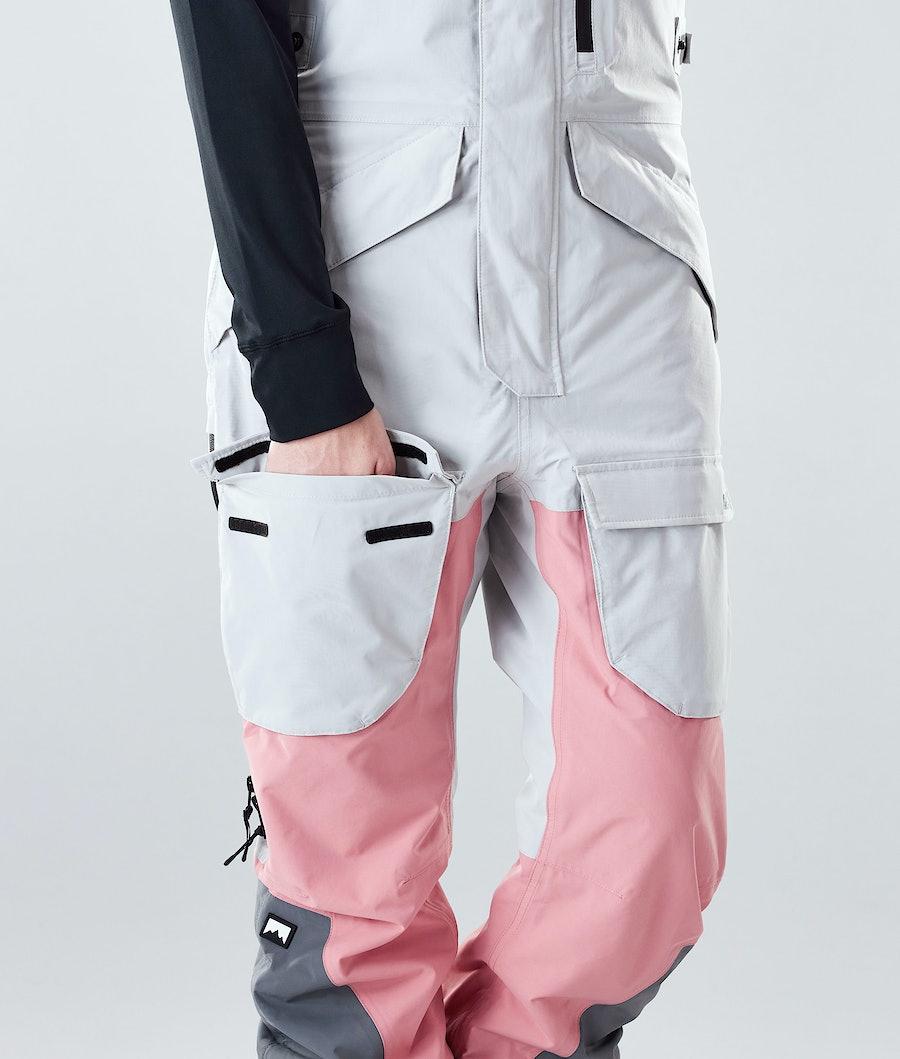 Montec Fawk W Women's Snowboard Pants Light Grey/Pink/Light Pearl