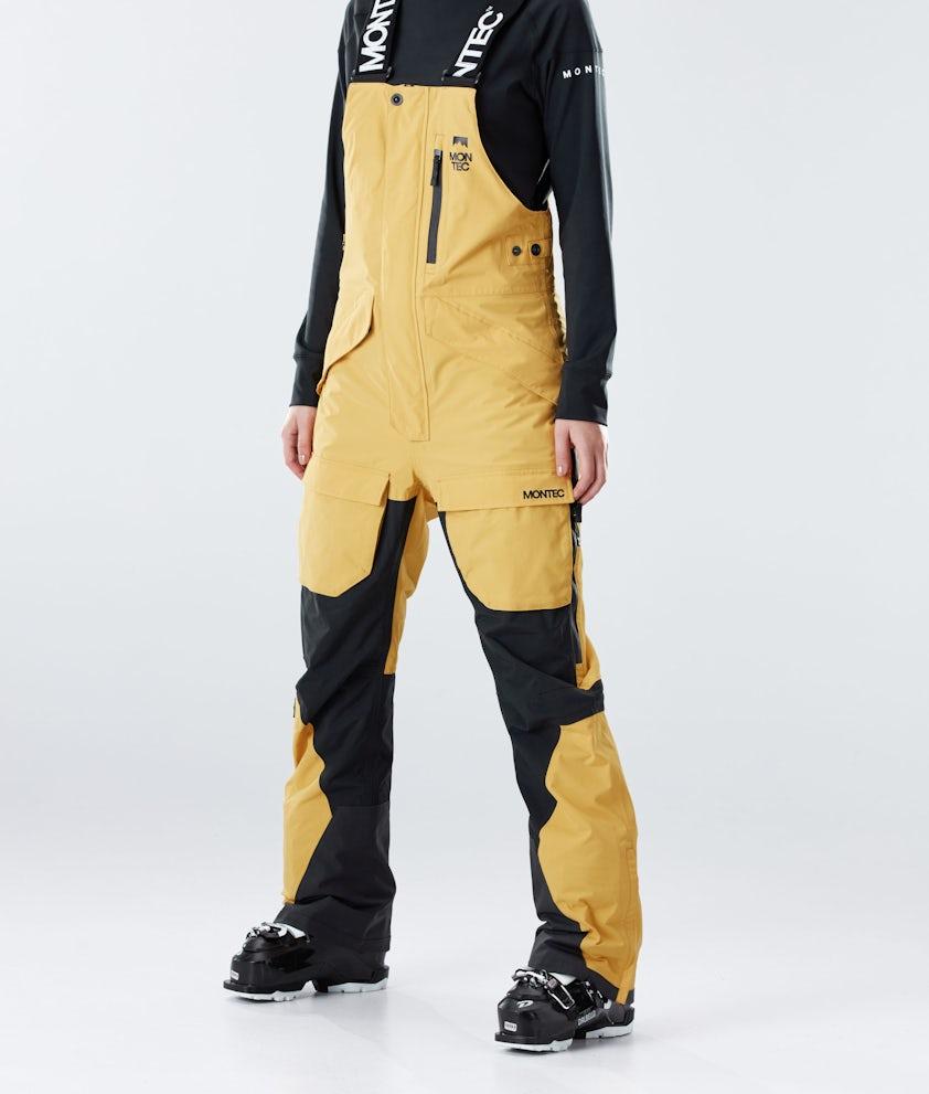 Montec Fawk W Pantalon de Ski Yellow/Black