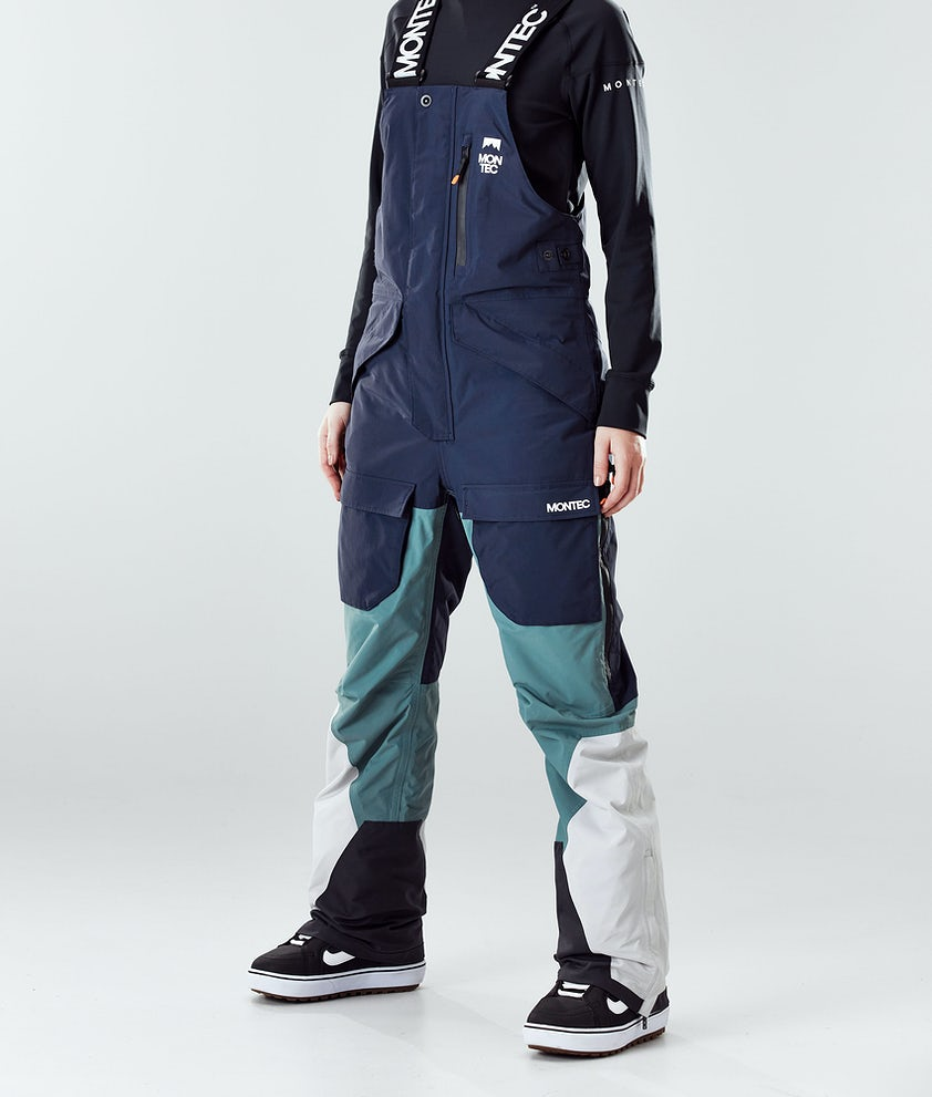 Montec Fawk W Snowboardhose Marine/Atlantic/Light Grey