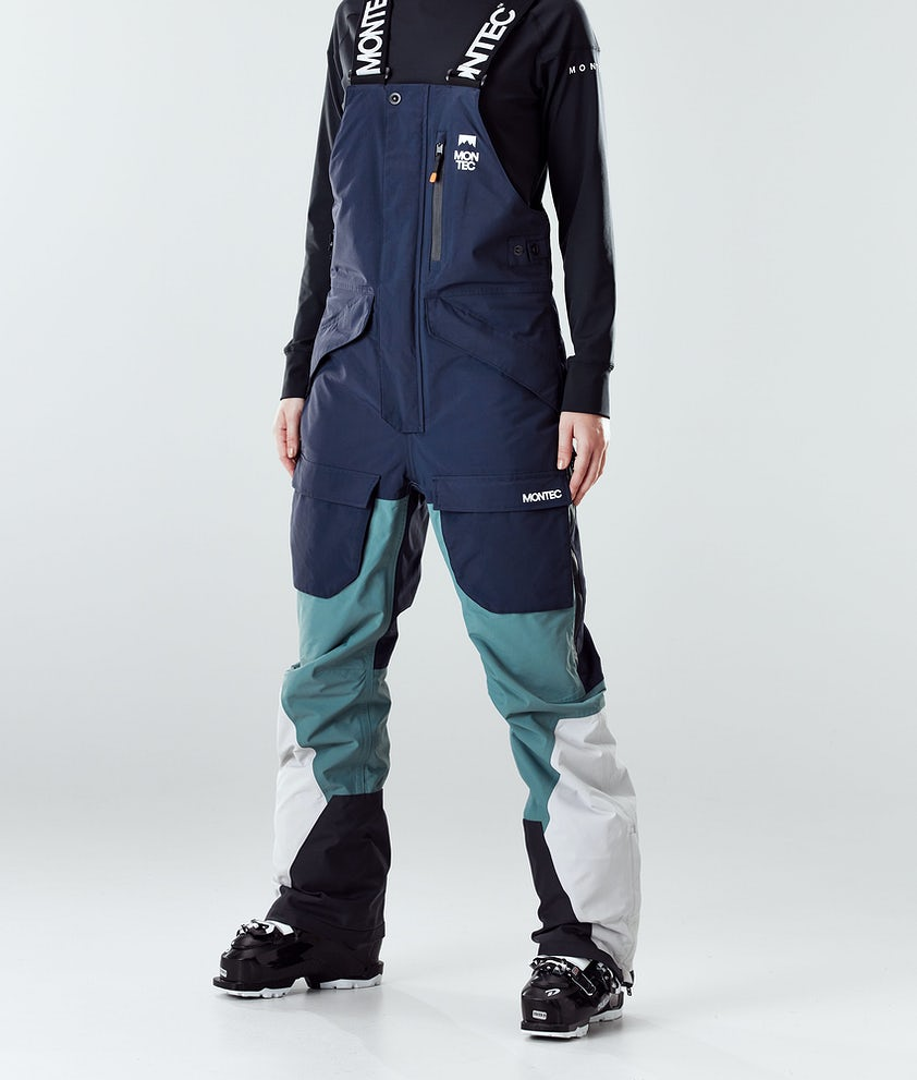 Montec Fawk W Pantalon de Ski Marine/Atlantic/Light Grey