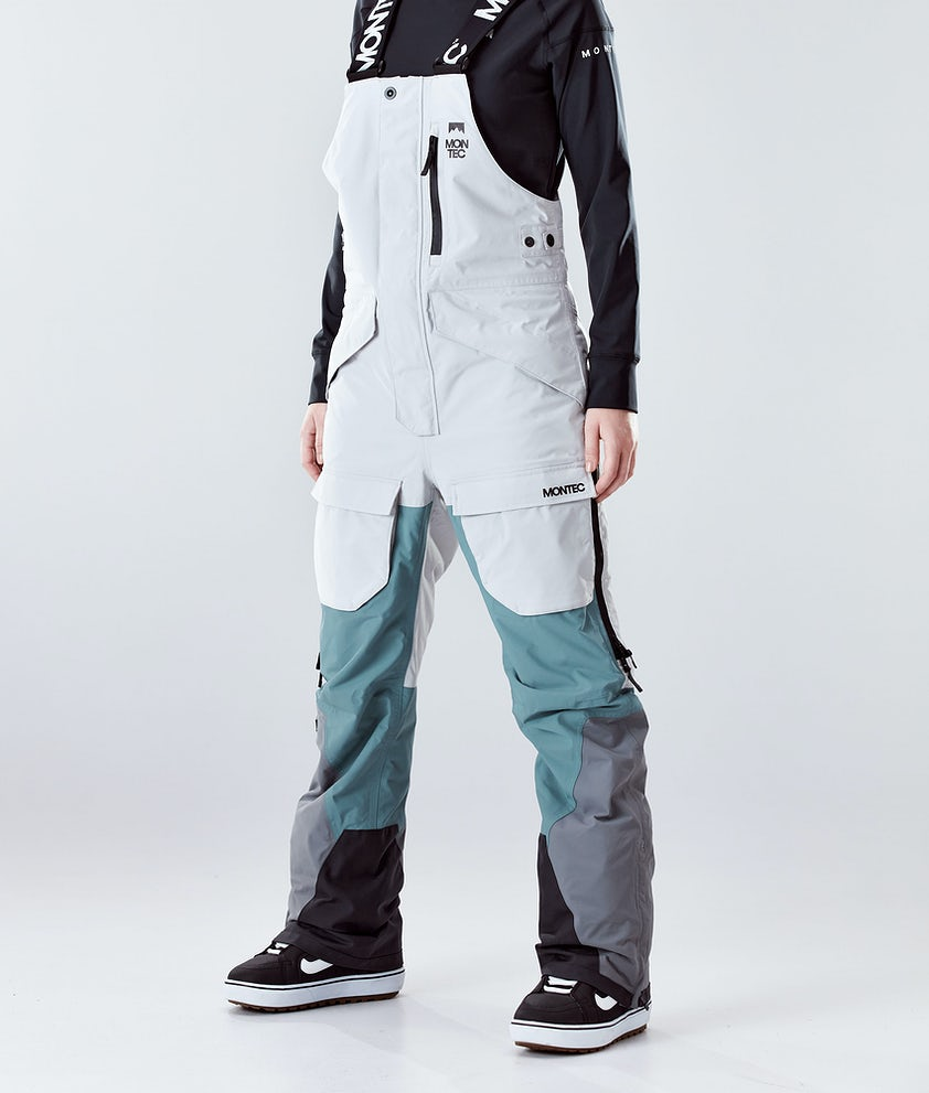 Montec Fawk W Snowboardhose Light Grey/Atlantic/Light Pearl