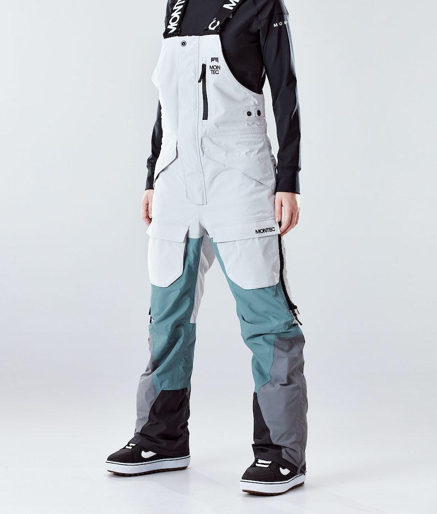 Montec Fawk W Snowboard Pants Light Grey/Atlantic/Light Pearl