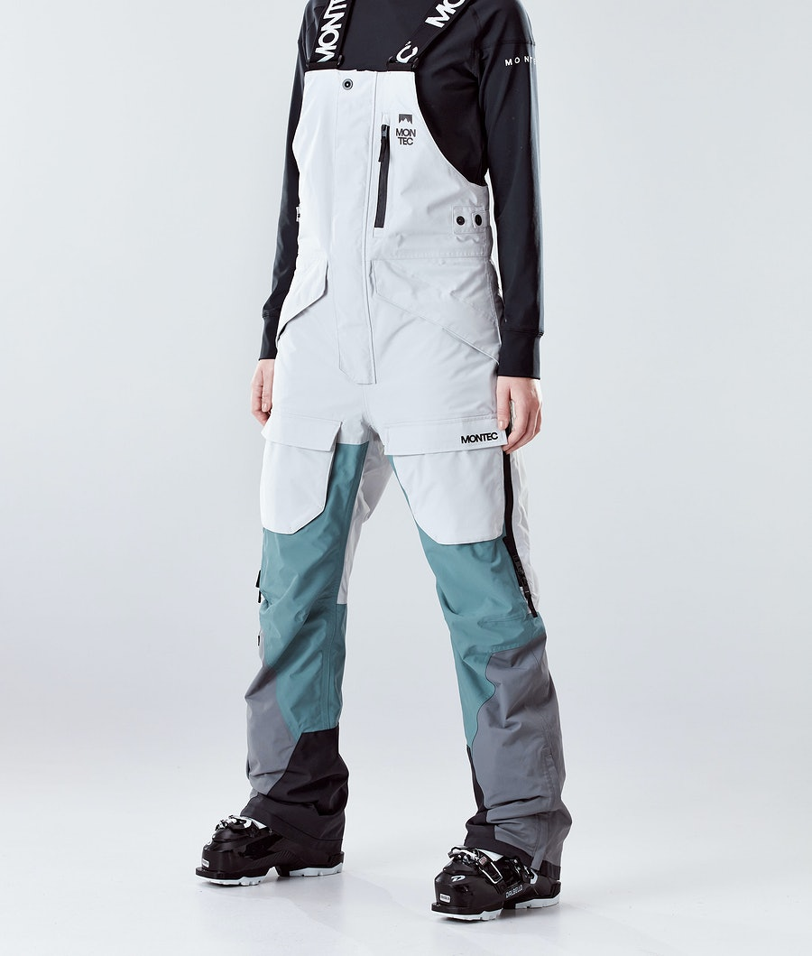 Montec Fawk W Pantaloni da Sci Light Grey/Atlantic/Light Pearl