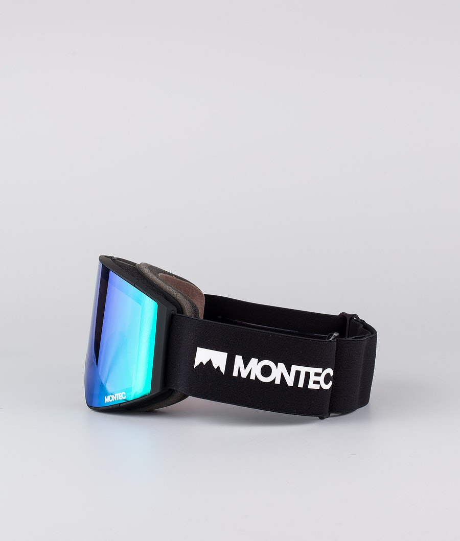 Montec Scope Medium Skibrille Black W/Black Tourmaline Green