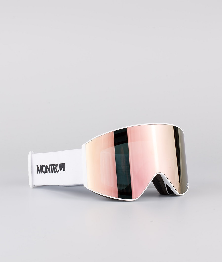 Montec Scope Medium Ski Goggle White W/White Rose