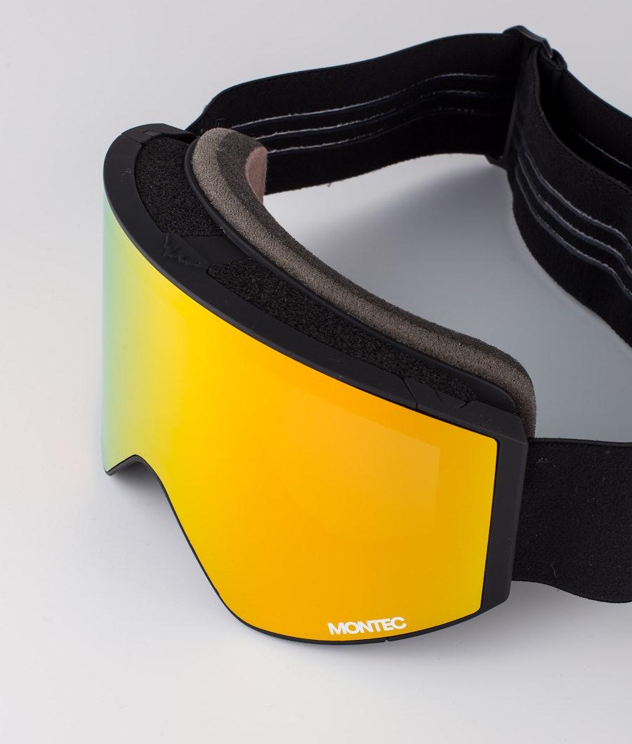 Montec Scope Medium Skidglasögon Black W/Black Ruby red