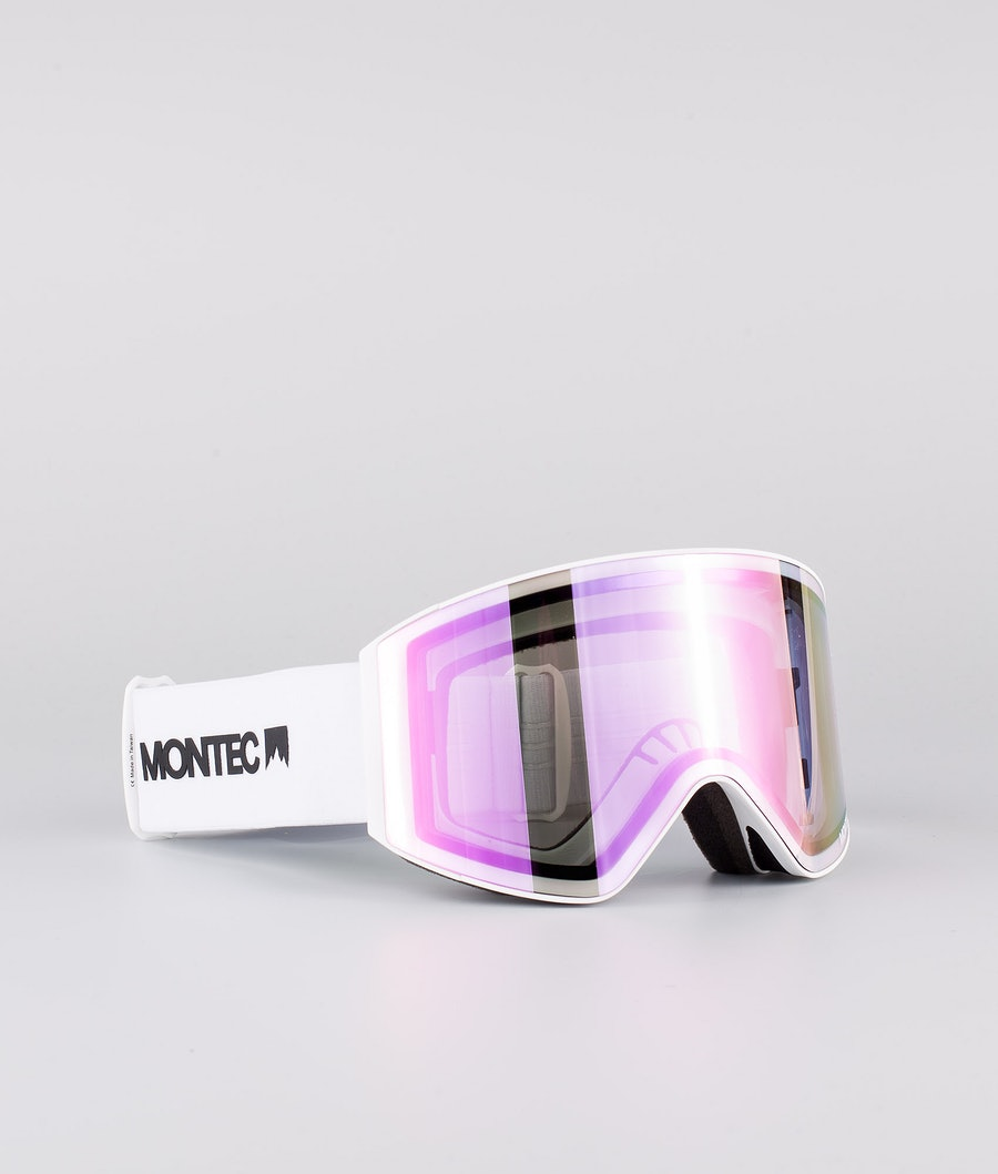 Montec Scope Medium Ski Goggle White W/White Pink Sapphire