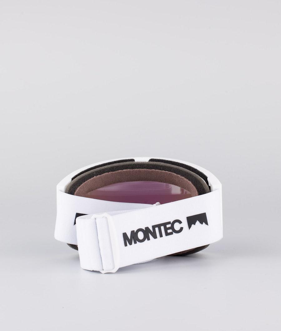 Montec Scope Medium Skibrille White W/White Tourmaline Green