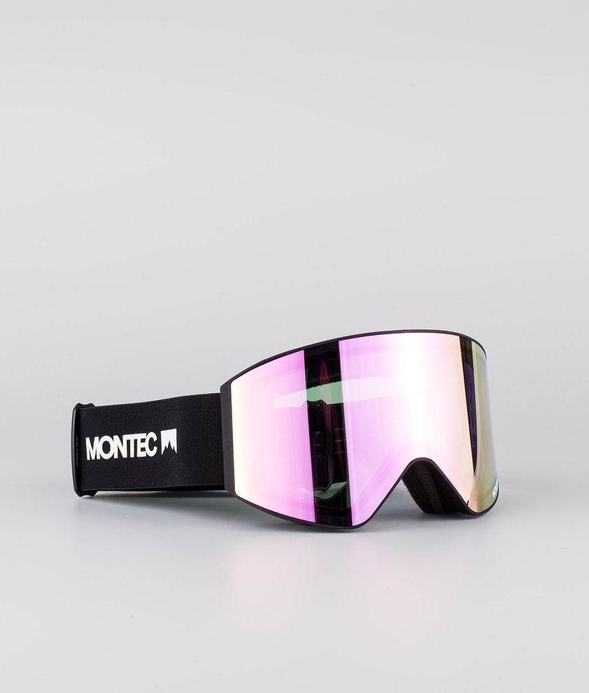 Montec Scope Ski Goggle Black W/Black Pink Sapphire