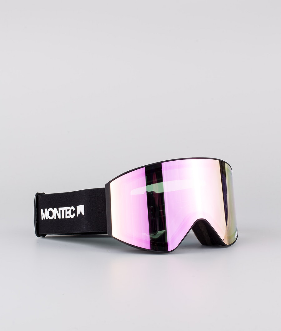 Montec Scope Medium Skibriller Black W/Black Pink Sapphire