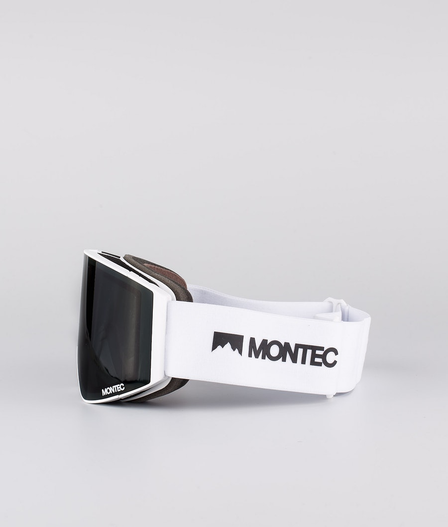 Montec Scope Medium Skibrille White W/White Black
