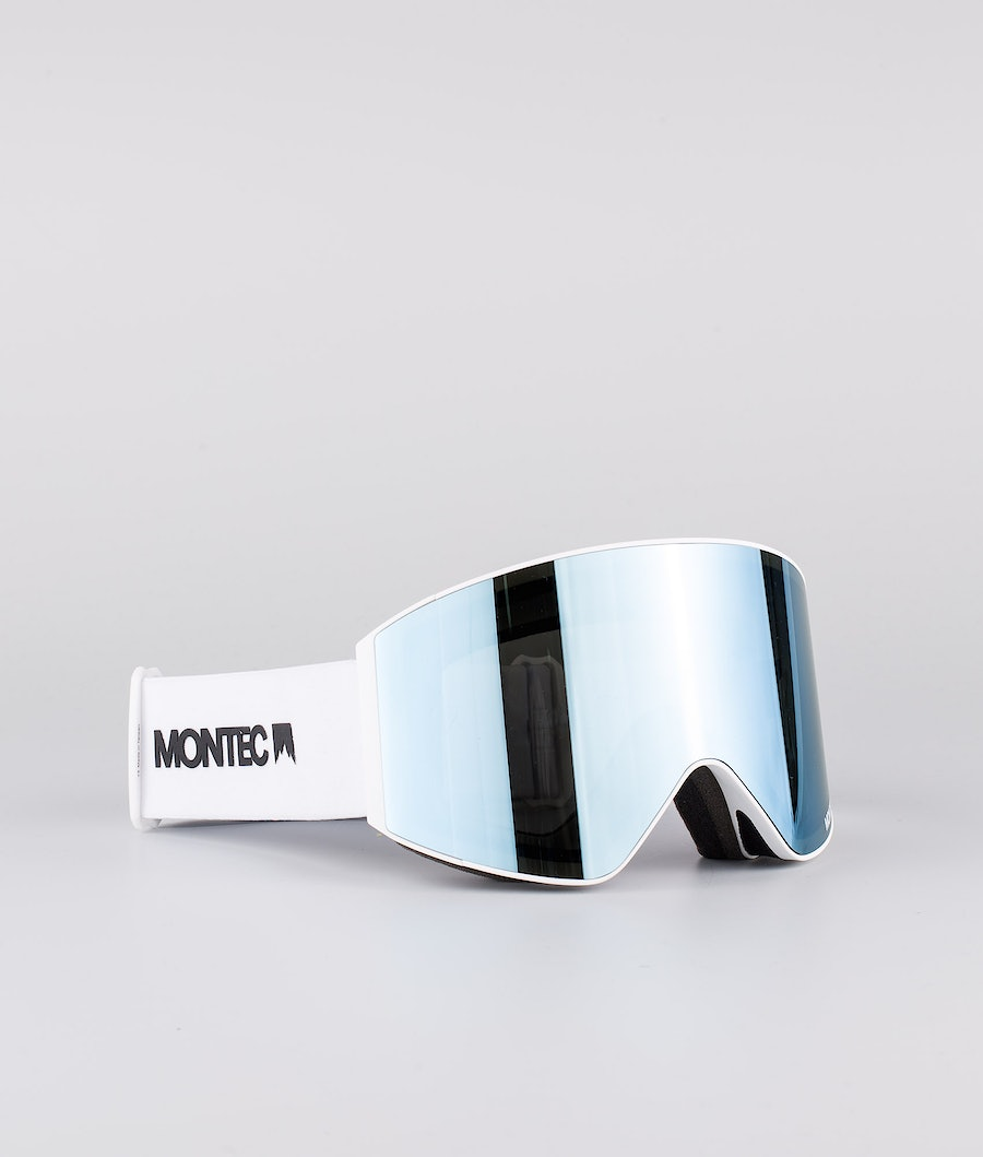 Montec Scope Medium Skidglasögon White W/White Moon Blue