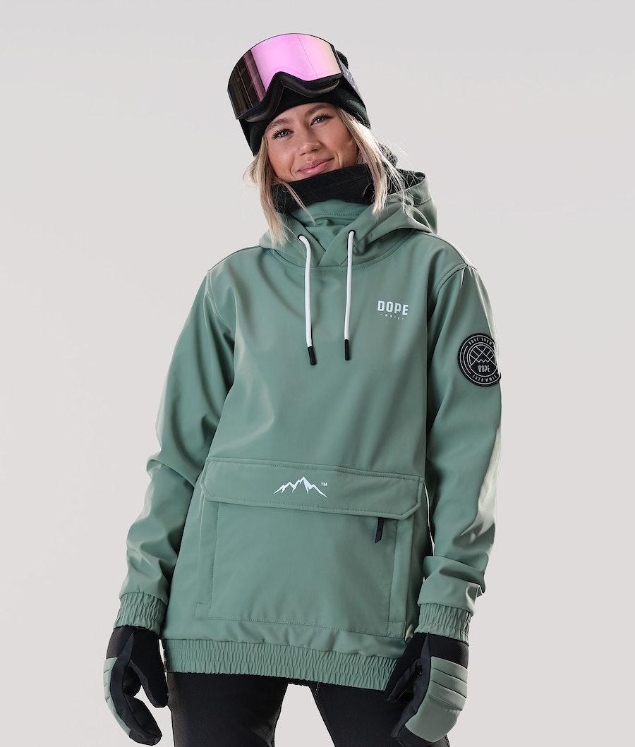 Dope Wylie Capital W Snowboard Jacket Faded Green