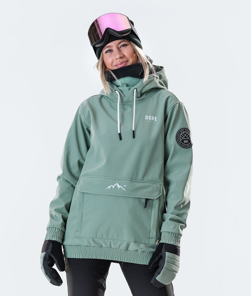 Dope Wylie Capital W Snowboard Jacket Faded Green