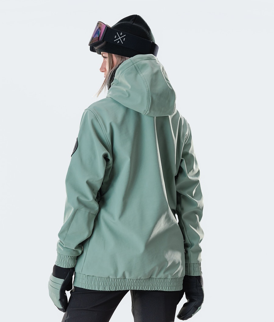 Dope Wylie Capital W Veste de Snowboard Femme Faded Green